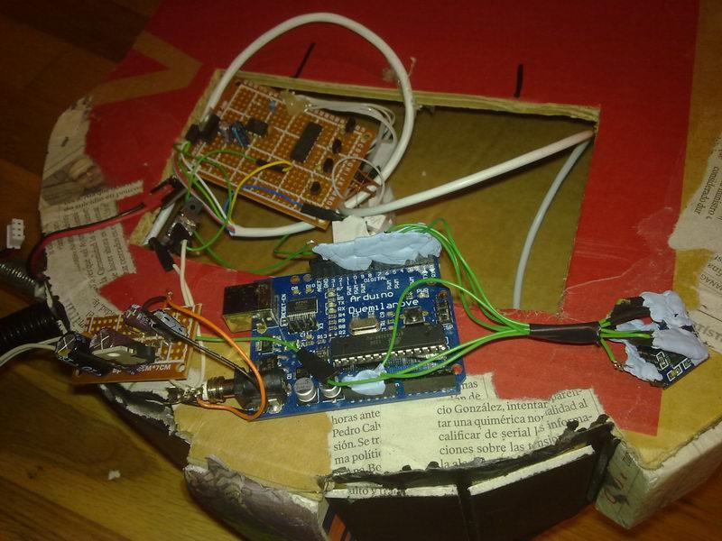 Amplificador + arduino + placa del ciclotrón y reloj